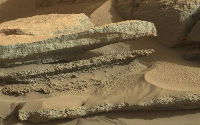Umbes kolme miljardi aasta eest Gale'i kraatris moodustunud settekiht.