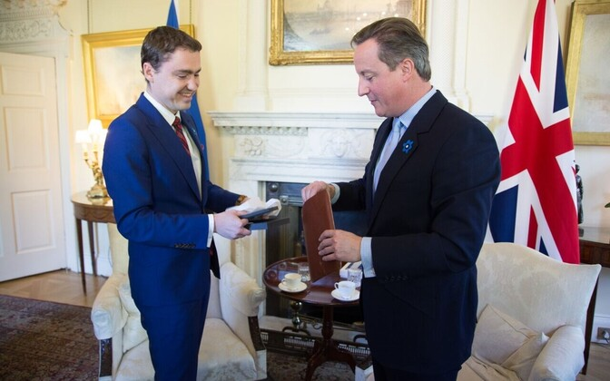 PM Taavi Rõivas was on a working visit to London, where he met British PM David Cameron.