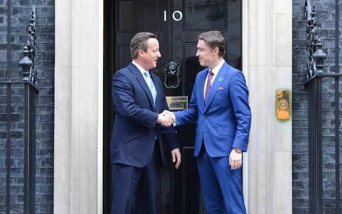 David Cameron and Taavi Rõivas
