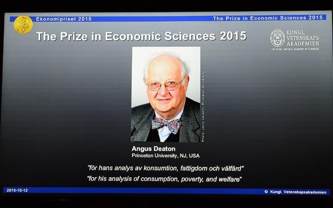 Nobeli majanduspreemia laureaadi väljakuulutamine.