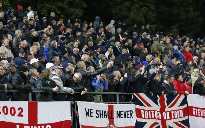 Inglismaa jalgpallifännid Vilniuses