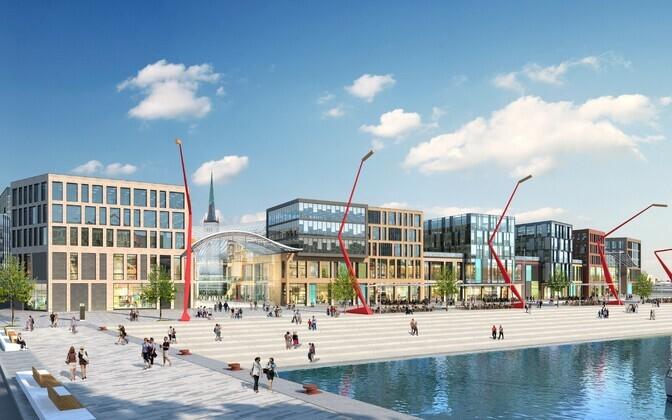 Tallinna sadamaala arenduse arhitektuurikonkursi võidutöö