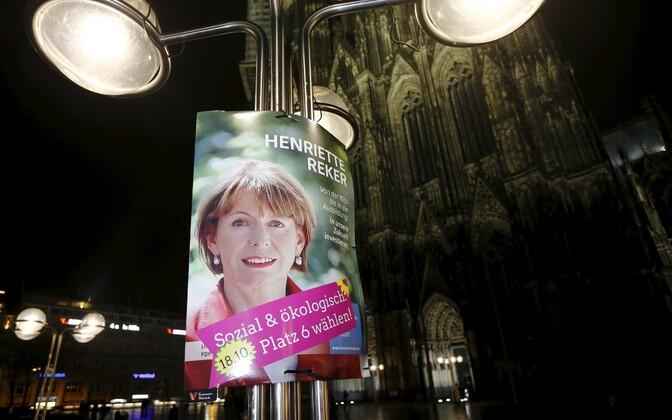 Henriette Rekeri valimisplakat.