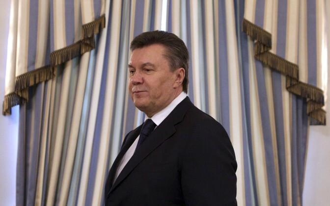 Viktor Janukovõtš 21. veebruaril 2014 Kiievis
