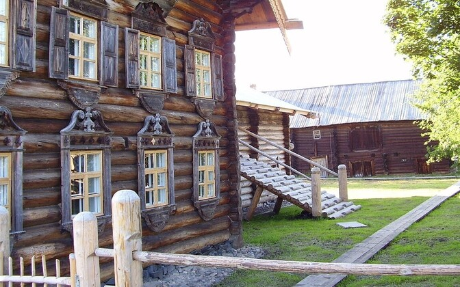 The Rjurik Lonin Museum of Veps Ethnography in Sholtozero, Republic of Karelia, Russia. The Vepsians, or Veps, are a Baltic Finnic tribe and close relatives to Estonians, who live in the area between Lake Ladoga, Lake Onega, and Lake Beloye. According to