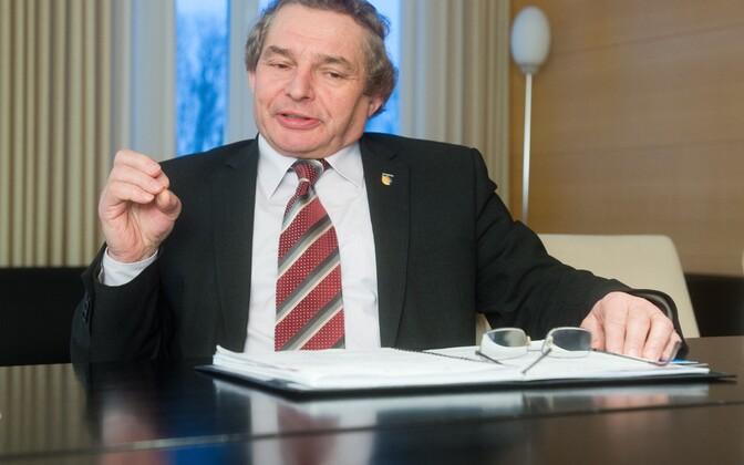 Jevgeni Solovjov 2015. aastal Kohtla-Järve linnapeana.