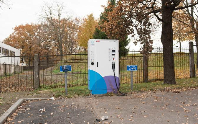 Elektriautode laadimispunkt