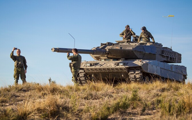 Baltic battalion taking part in NATO's Trident Juncture 2015 exercise in Spain.