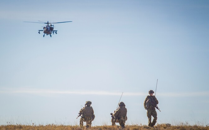 Estonian troops taking part in NATO's Trident Juncture 2015 exercise in Spain.