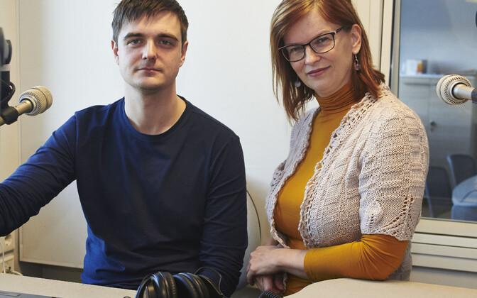 Taavi Libe ja Margitta Otsmaa Vikerhommiku stuudios