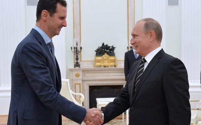 Süüria president Bashar al-Assad ja Venemaa president Vladimir Putin.