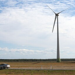 An Eesti Energia-owned wind farm in Narva.