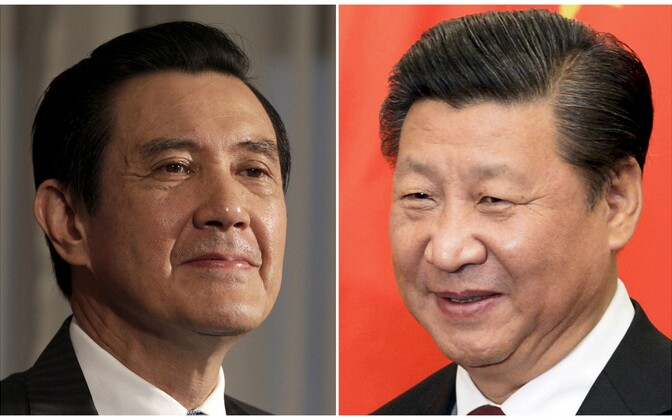 Taiwani president Ma Ying-jeou (vasakul) ja Hiina president Xi Jinping