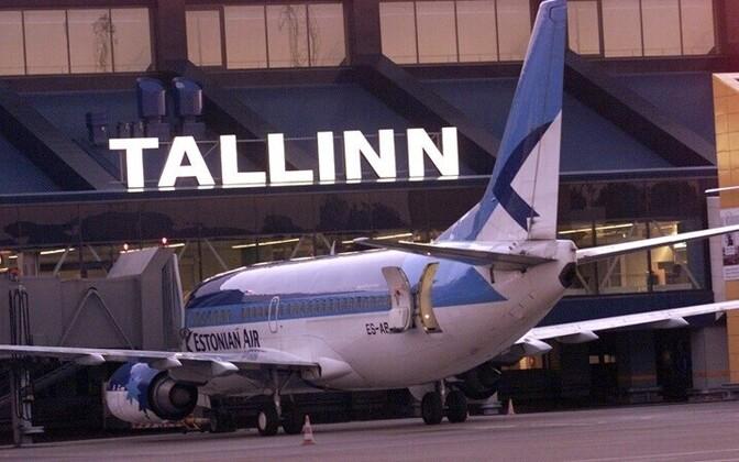 Estonian Air's aircraft in Tallinn Airport in 2001