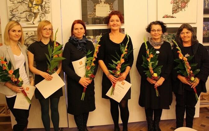 Võitjad vasakult: Katre Eesmaa, Kadri Kiho, Helle Kirsi, Piret Bergmann, Regina Lukk-Toompere, Piret Mildeberg.