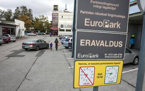 Europarki parkla.