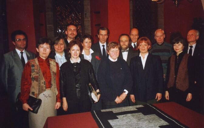 Eesti Sisearhitektide Liidu asutamine Tallinna Raekojas, 20.11.1990
