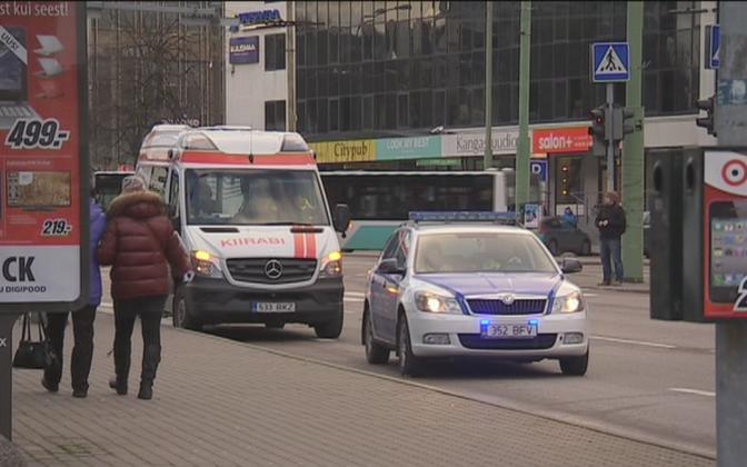 Police operation in Tallinn city center