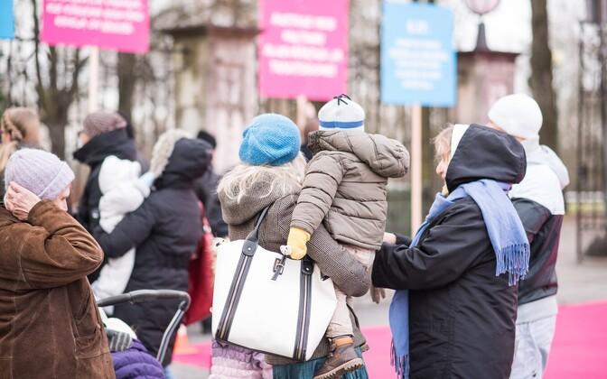 SAPTKi korraldatud meeleavaldus kooseluseaduse vastu 2015. aastal.