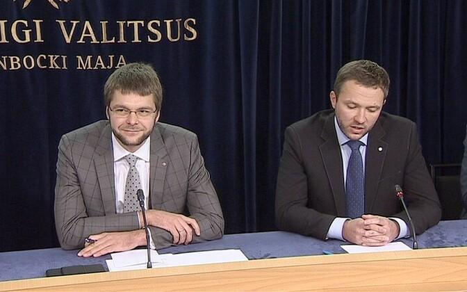Jevgeni Ossinovski ja Margus Tsahkna
