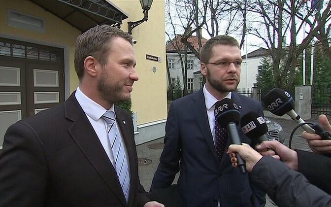 Margus Tsahkna ja Jevgeni Ossinovski.
