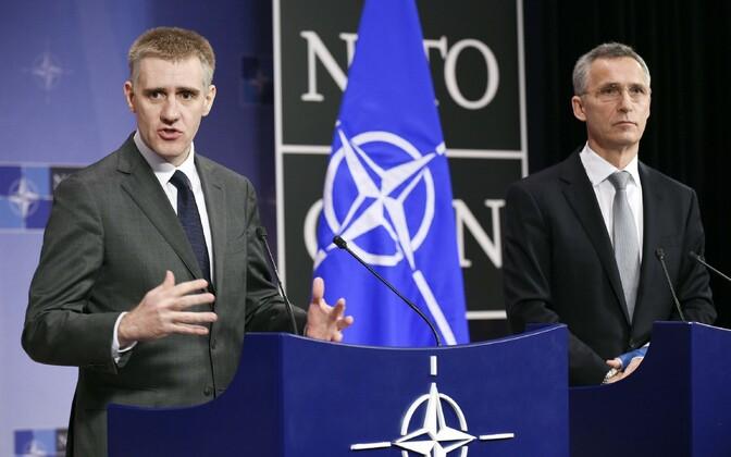 Montenegro välisminister Igor Luksic Brüsselis NATO kohtumisel
