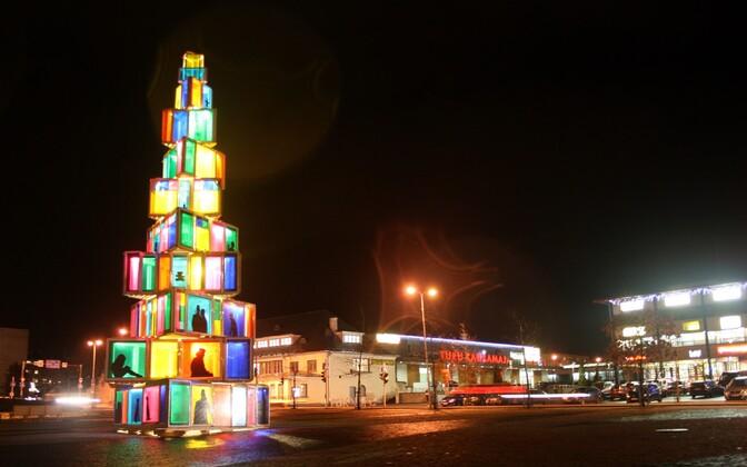 Рождественское дерево в Раквере.