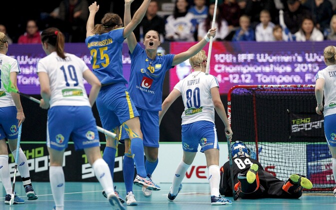 Saalihoki MM-finaal Rootsi - Soome