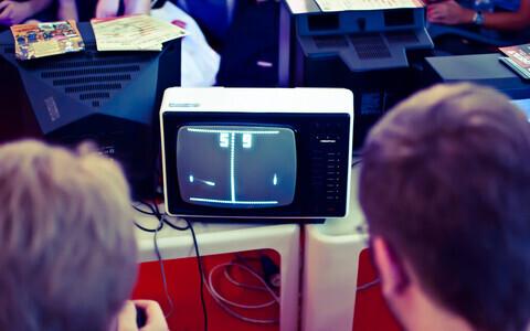 Klassikaline arvutimäng Pong.