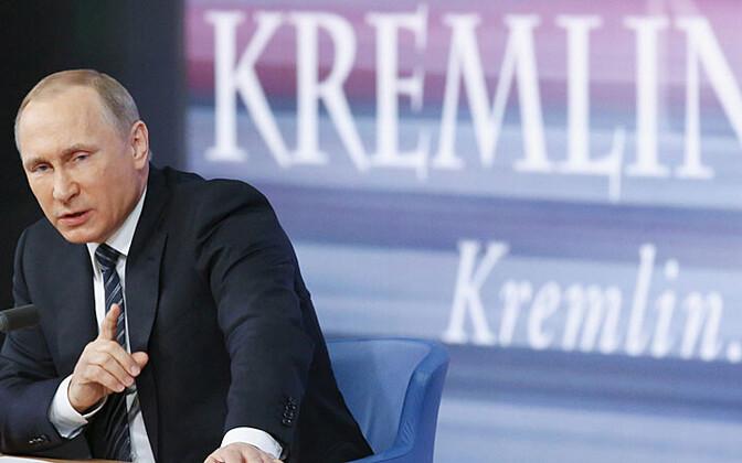 Vladimir Putin suurel pressikonverentsil