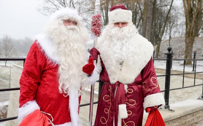 Санта-Клаус и Дед Мороз. Иллюстративное фото.