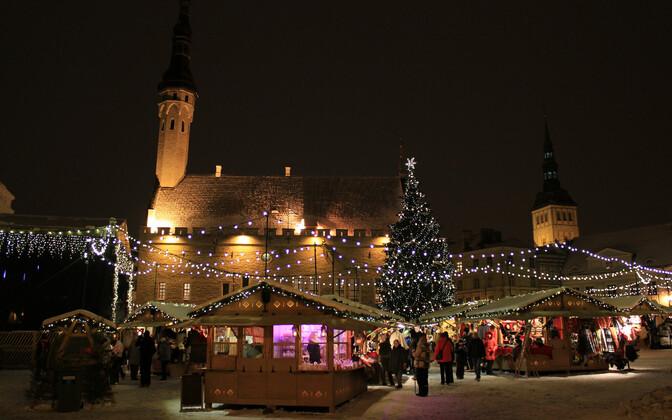 Jõuluturg Tallinnas.