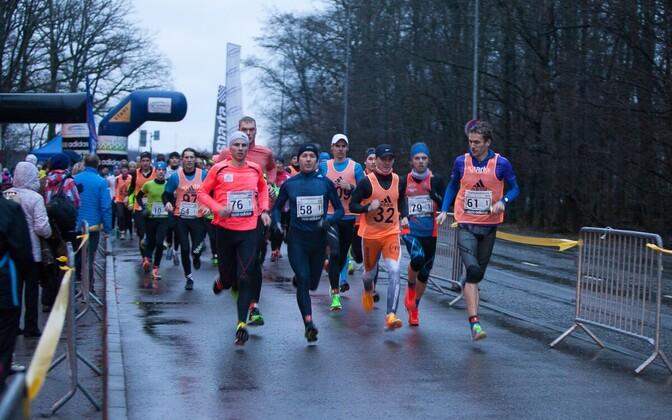 2015. aasta vana-aasta jooksu maratoni start.