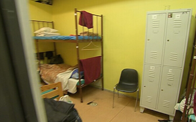 Accommodation at a homeless shelter in Tallinn.