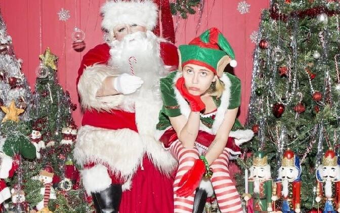 Miley Cyrus jõulumeeleolus