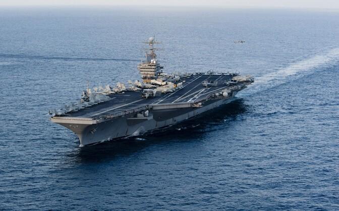 USA mereväe laev USS Abraham Lincoln (CVN 72).
