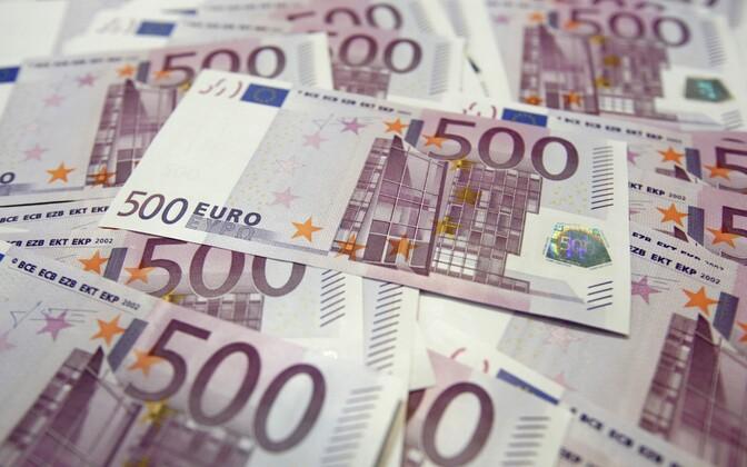 500-eurosed kupüürid.