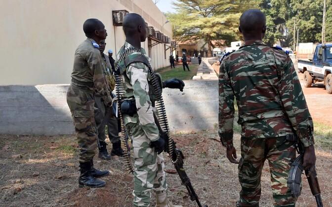 Rahuvalvajad Kesk-Aafrika Vabariigis.