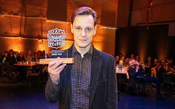 """Parima meesosatäitja ja """"Särava sutsu"""" preemia pälvinud Janek Vadi."""