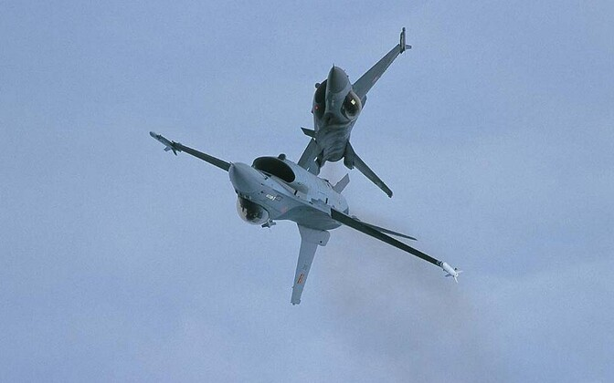 Belgia F-16 tüüpi hävitajad.
