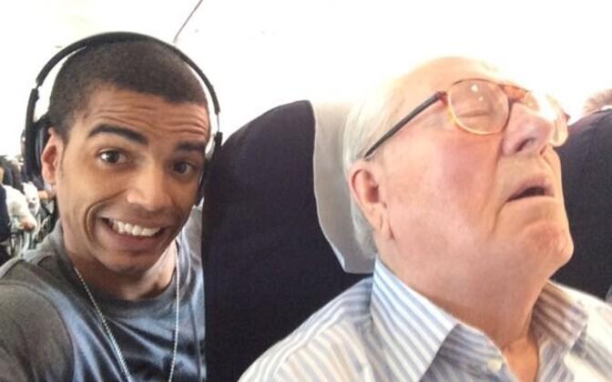 Brahim Zaibat ja magav Jean-Marie Le Pen