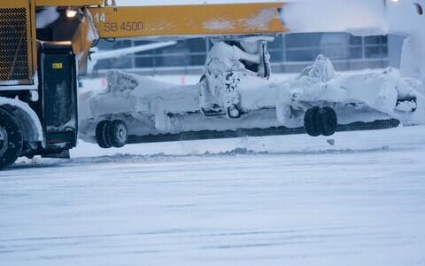 Метель в Таллиннском аэропорту