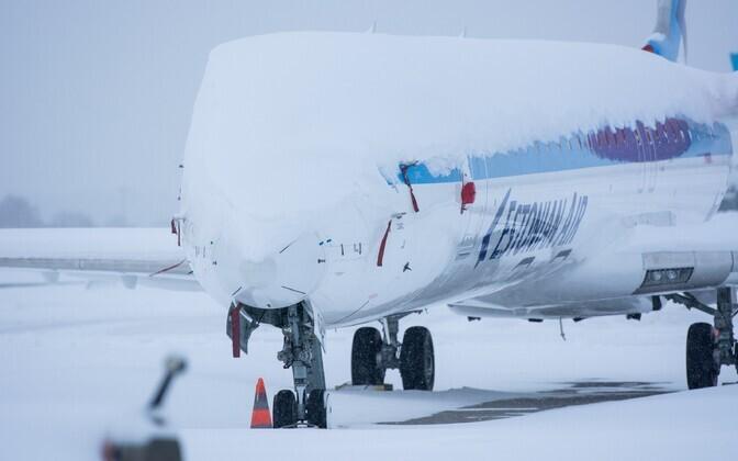 Mothballed Estonian Air plane.