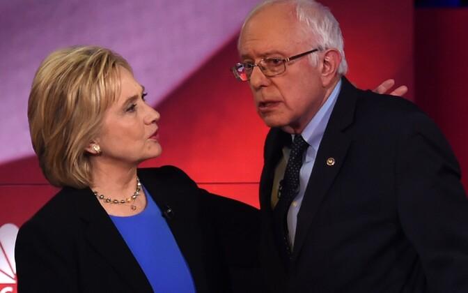 Hillary Clinton ja Bernie Sanders.