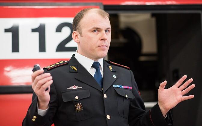 Estonian Rescue Board Director General Kuno Tammearu.