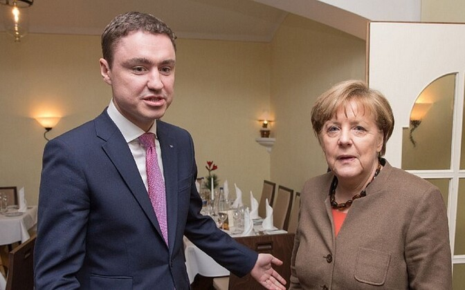Taavi Rõivas and Angela Merkel at their meeting in January, 2016