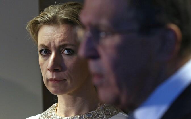 Vene välisministeeriumi pressiesindaja Maria Zahharova ja välisminister Sergei Lavrov.