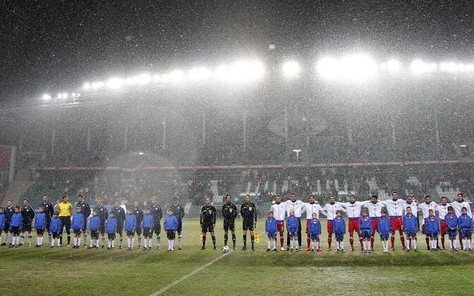 Eesti ja Serbia jalgpallikoondised A Le Cog Arenal 2011. aasta 29. märtsil