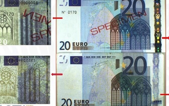 Võltsitud 20-eurone