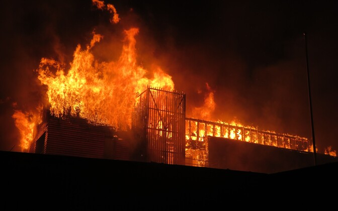 Bernhard Spa Hotel in fire